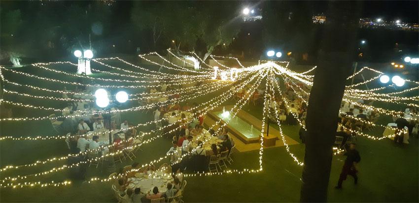iluminacion para bodas Malaga